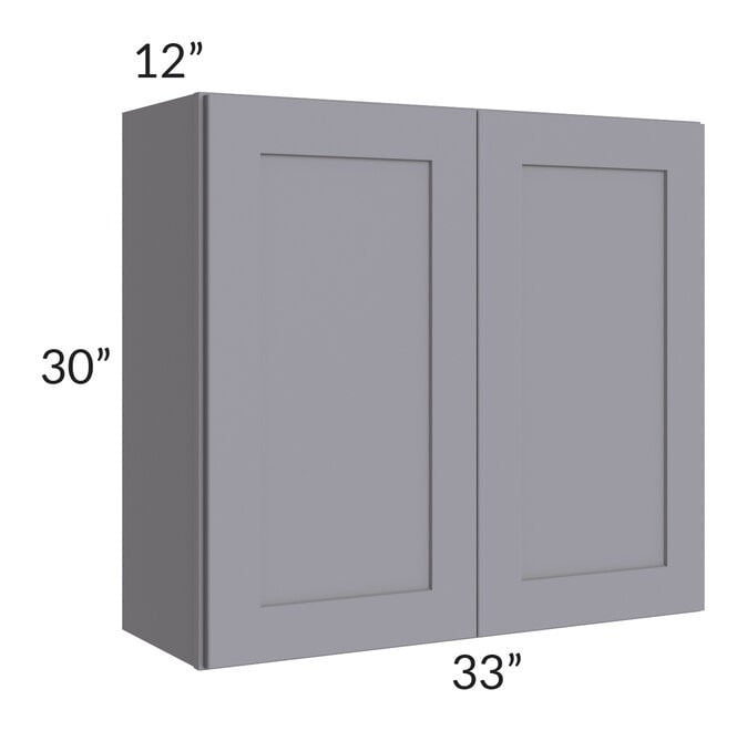 Graphite Grey Shaker 33x30 Wall Cabinet