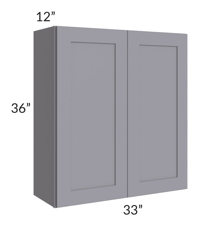 Graphite Grey Shaker 33x36 Wall Cabinet