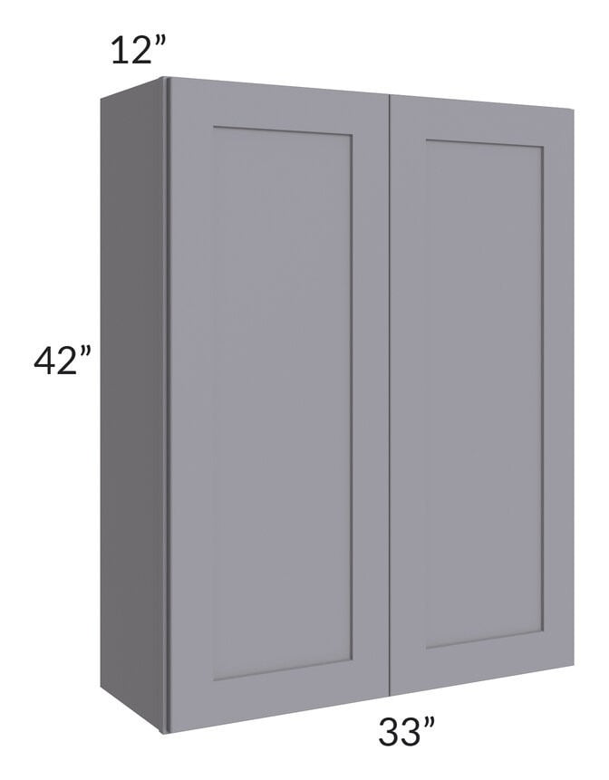 Graphite Grey Shaker 33x42 Wall Cabinet