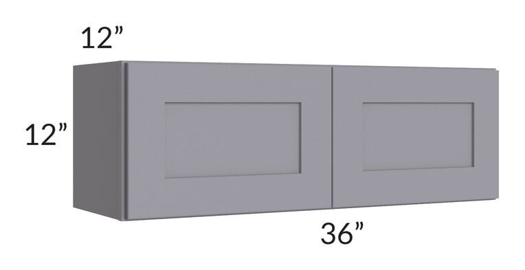 Graphite Grey Shaker 36x12 Wall Cabinet