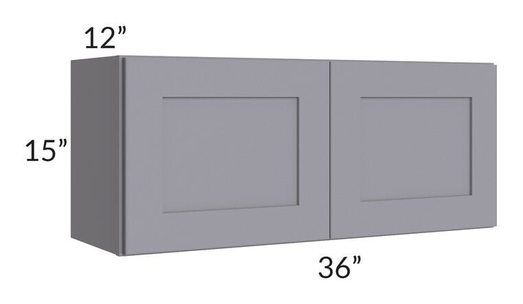 Graphite Grey Shaker 36x15 Wall Cabinet