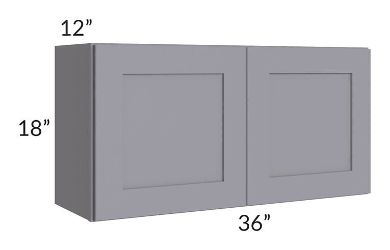 Graphite Grey Shaker 36x18 Wall Cabinet
