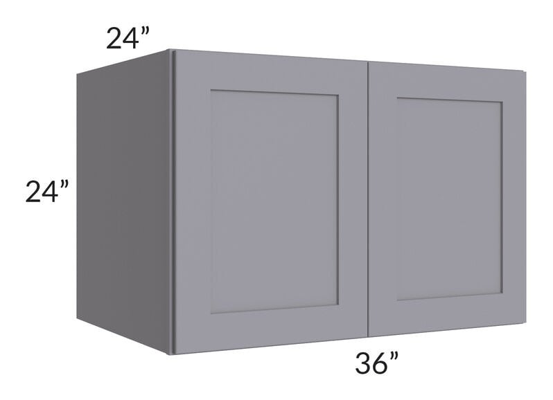 Graphite Grey Shaker 36x24x24 Wall Cabinet