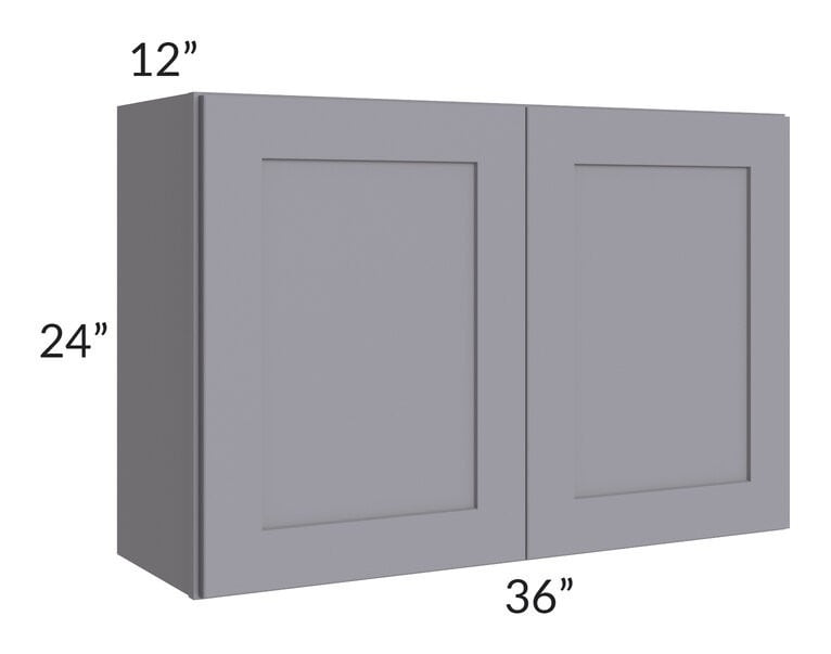 Graphite Grey Shaker 36x24 Wall Cabinet