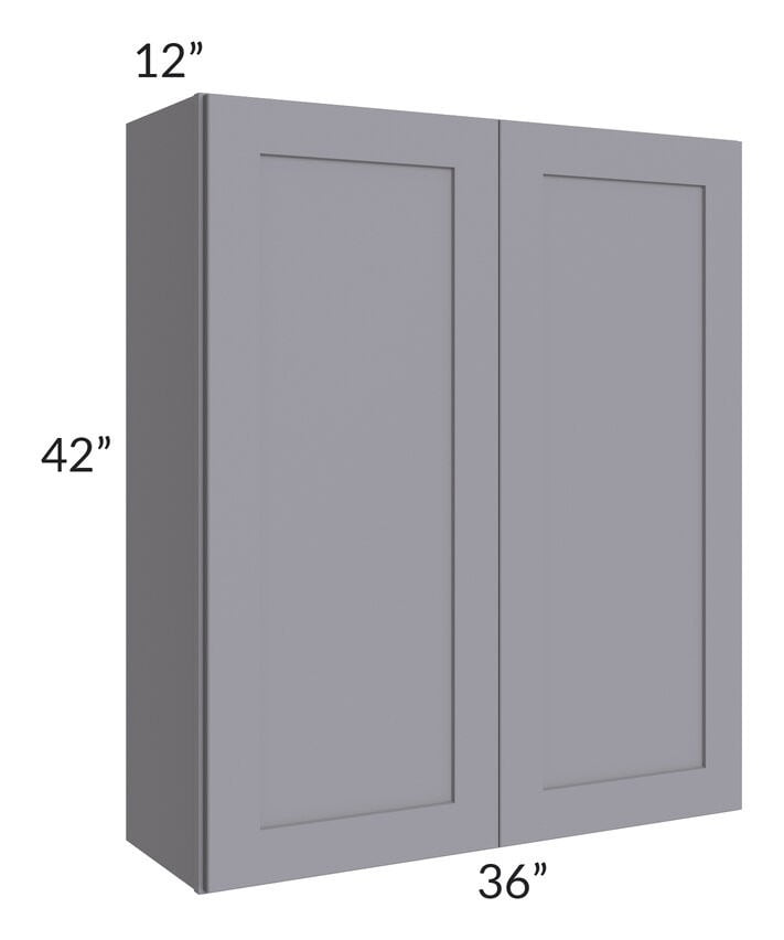 Graphite Grey Shaker 36x42 Wall Cabinet