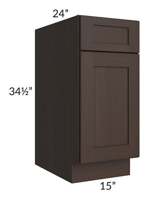 "Dark Chocolate Shaker 15"" Base Cabinet"