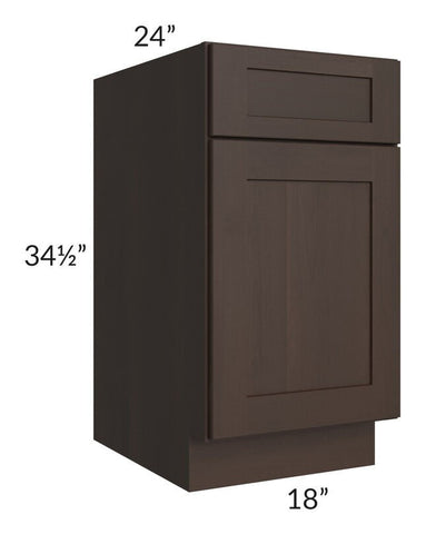 "Dark Chocolate Shaker 18"" Base Cabinet"