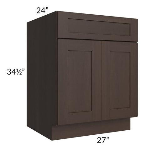 "Dark Chocolate Shaker 27"" Base Cabinet"