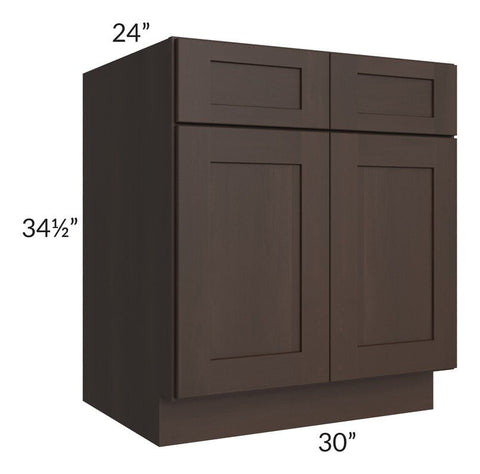 "Dark Chocolate Shaker 30"" Base Cabinet"