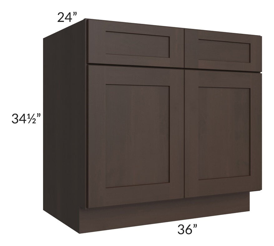 "Dark Chocolate Shaker 36"" Base Cabinet"