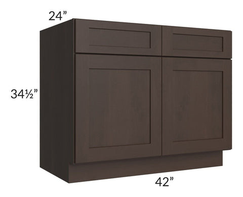 "Dark Chocolate Shaker 42"" Base Cabinet"