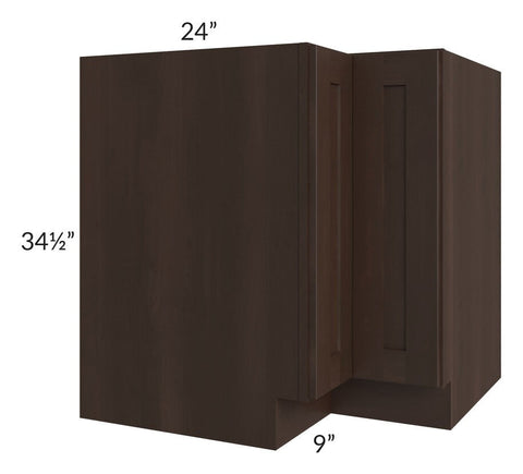 "Dark Chocolate Shaker 33"" Corner Base Cabinet"