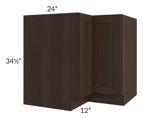 "Dark Chocolate Shaker 36"" Corner Base Cabinet"