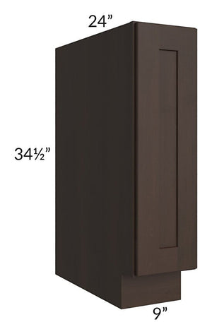 "Dark Chocolate Shaker 09"" Base Tray Cabinet"