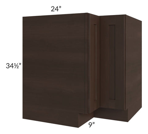 "Dark Chocolate Shaker 33"" Lazy Susan Base Cabinet"