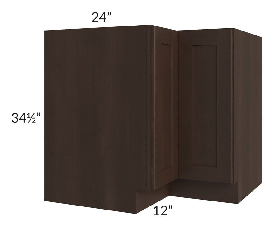 "Dark Chocolate Shaker 36"" Lazy Susan Base Cabinet"