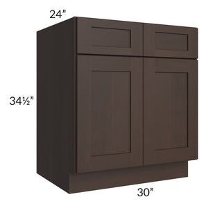 "Dark Chocolate Shaker 30"" Sink Base Cabinet"