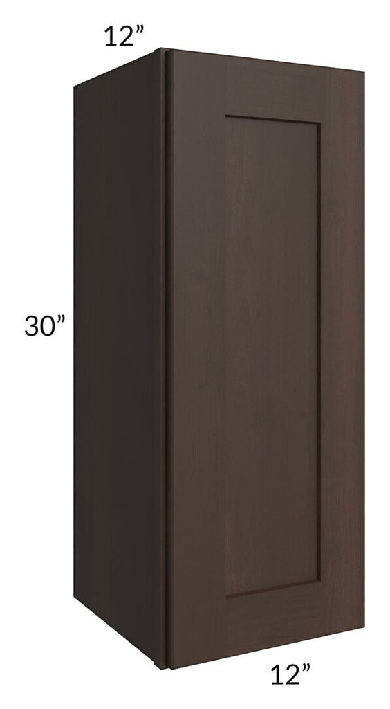 Dark Chocolate Shaker 12x30 Wall Cabinet