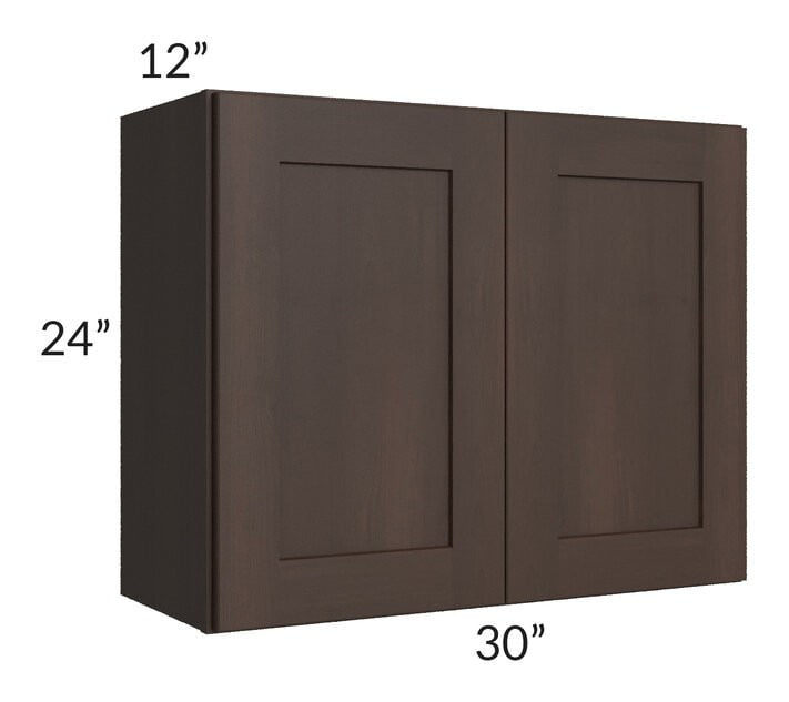 Dark Chocolate Shaker 30x24 Wall Cabinet