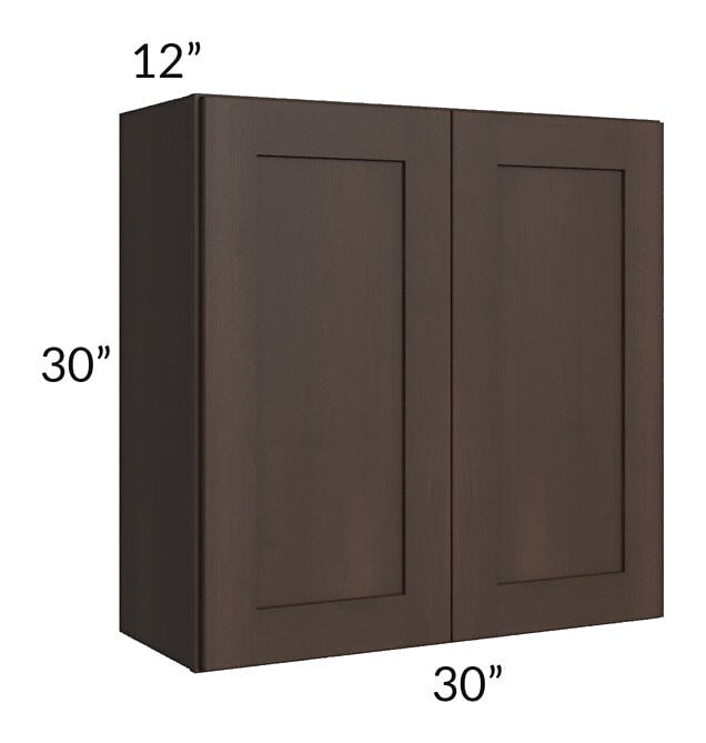 Dark Chocolate Shaker 30x30 Wall Cabinet