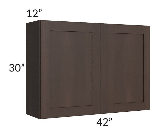 Dark Chocolate Shaker 42x30 Wall Cabinet