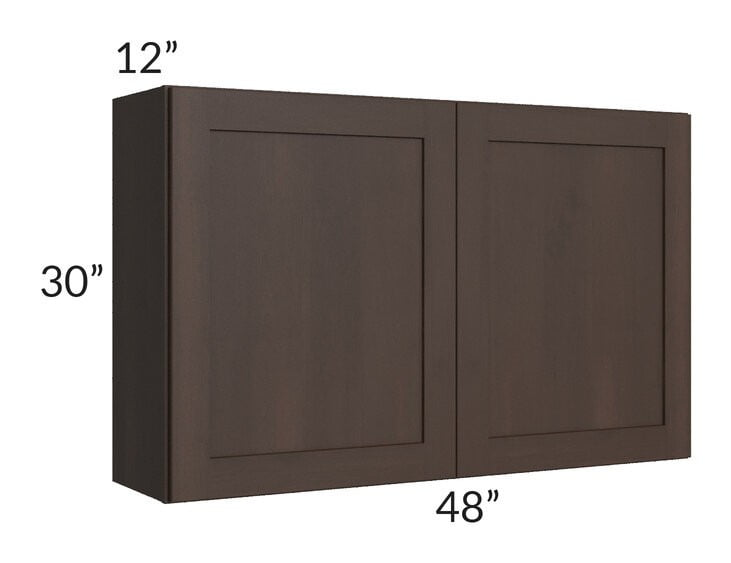 Dark Chocolate Shaker 48x30 Wall Cabinet