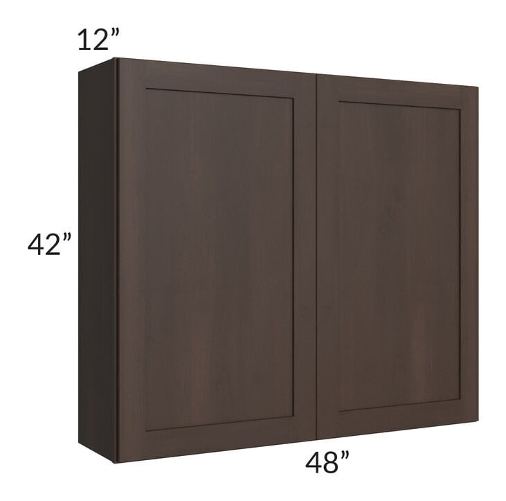 Dark Chocolate Shaker 48x42 Wall Cabinet