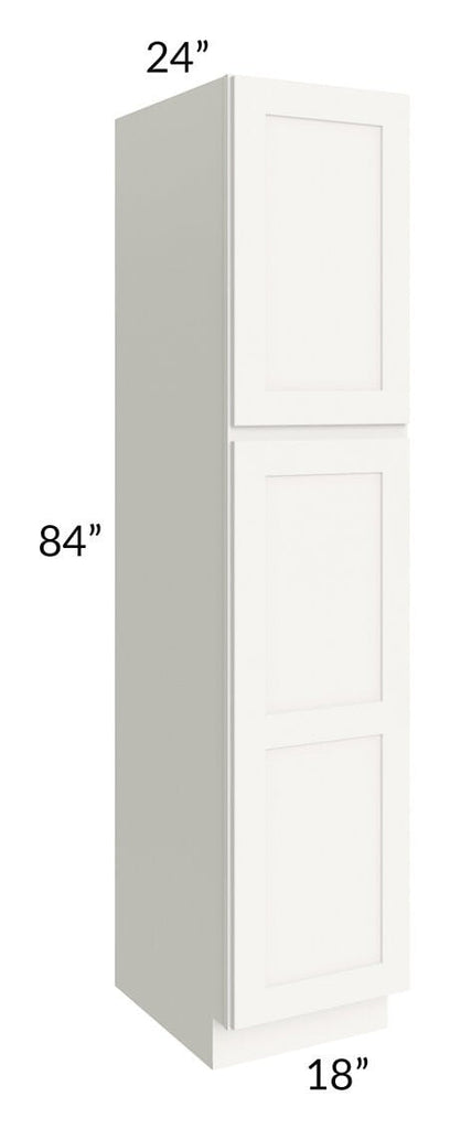 Arctic White Shaker 18x84x24 Wall Pantry Cabinet