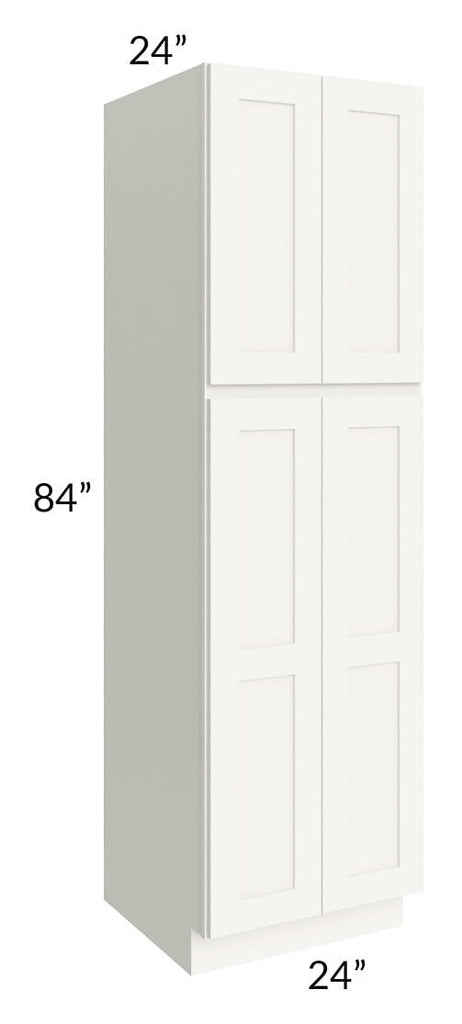 Arctic White Shaker 24x84x24 Wall Pantry Cabinet
