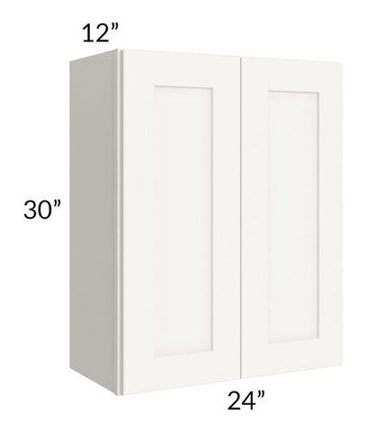 Arctic White Shaker 24x30 Wall Cabinet