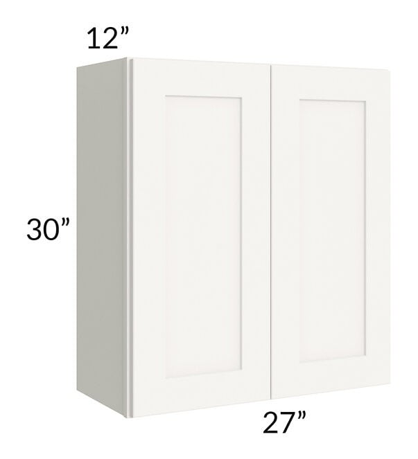 Arctic White Shaker 27x30 Wall Cabinet