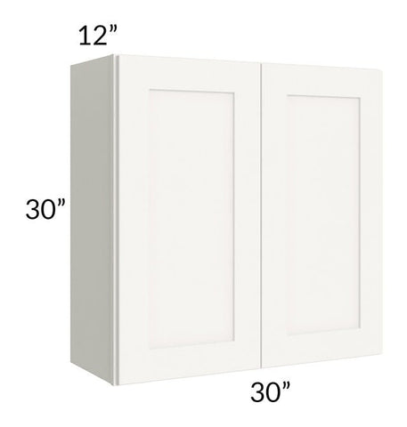 Arctic White Shaker 30x30 Wall Cabinet