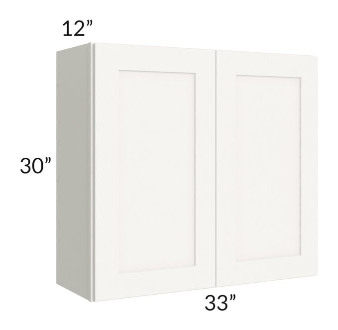Arctic White Shaker 33x30 Wall Cabinet