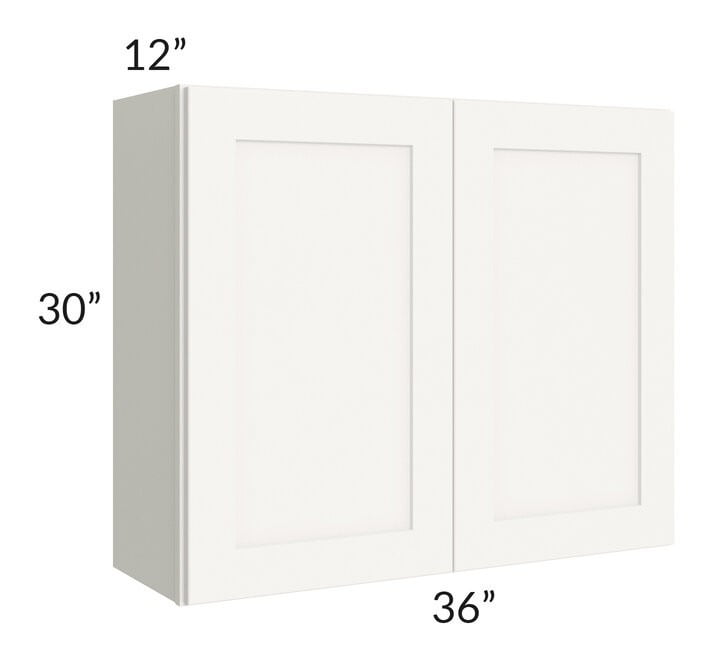 Arctic White Shaker 36x30 Wall Cabinet