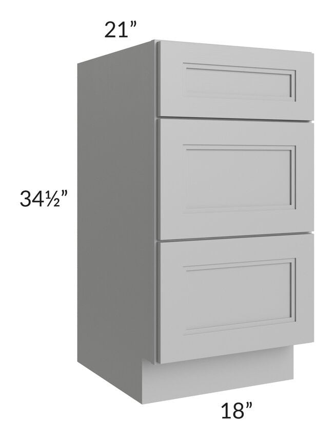 "Charlotte Grey 18"" Vanity 3-Drawer Base Cabinet"