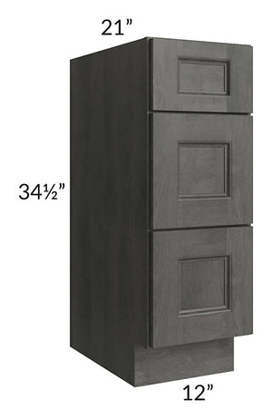 "Providence Natural Grey 12"" Drawer Base Bathroom Vanity Cabinet"
