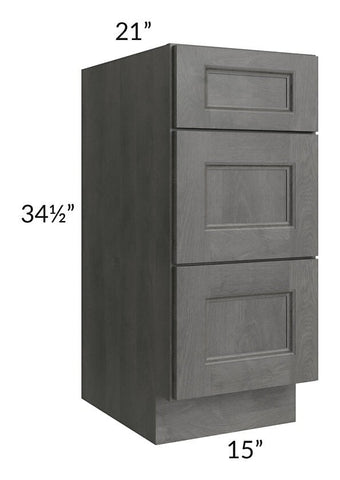 "Providence Slate Grey 15"" Drawer Base Bathroom Vanity Cabinet"