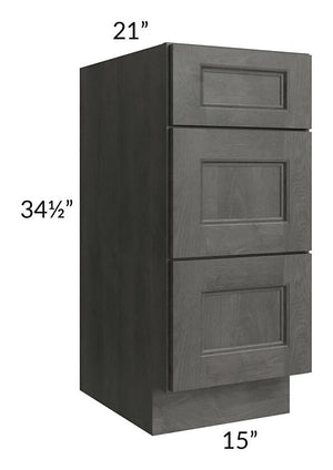 "Providence Natural Grey 15"" Drawer Base Bathroom Vanity Cabinet"