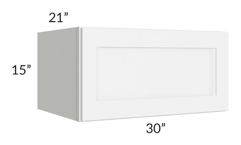 "Brilliant White Shaker 30"" 1-Drawer Base Cabinet"