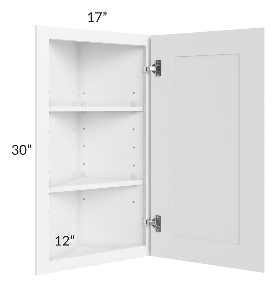 Brilliant White Shaker 12x30 Angle Wall Cabinet