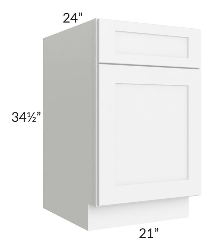 "Brilliant White Shaker 21"" Base Cabinet"