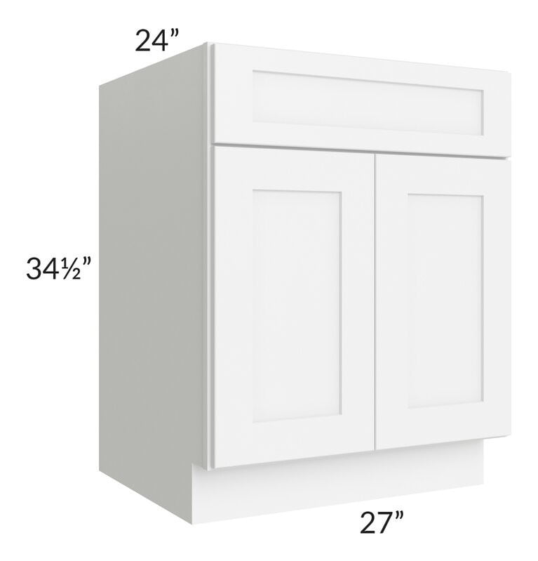 "Brilliant White Shaker 27"" Base Cabinet"
