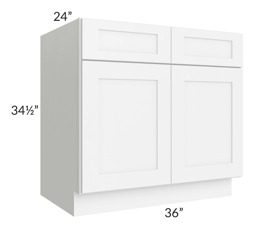 "Brilliant White Shaker 36"" Base Cabinet"