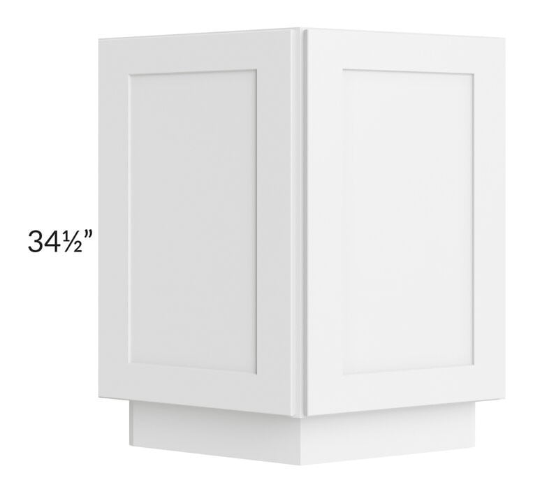 "Brilliant White Shaker 24"" Base End Cabinet"