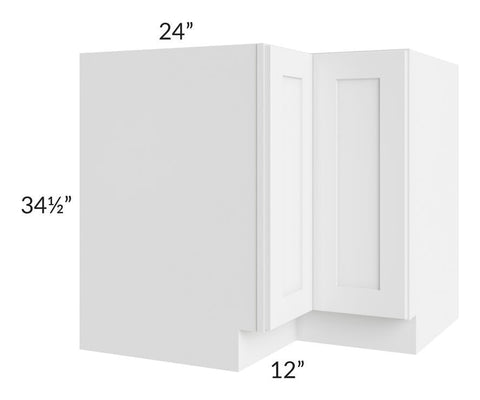 "Brilliant White Shaker 36"" Corner Base Cabinet"