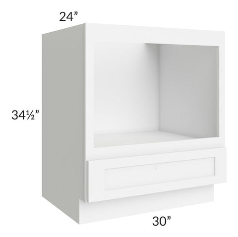 "Brilliant White Shaker 30"" Microwave Base Cabinet"