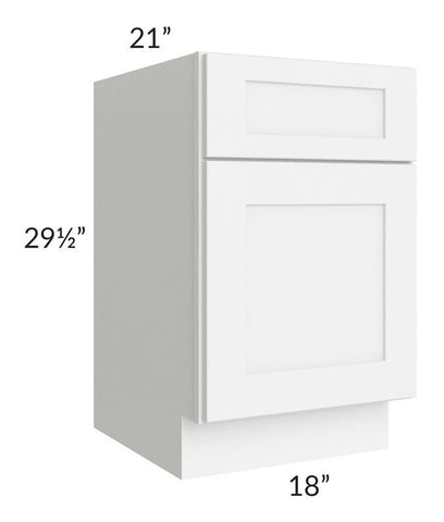 "Brilliant White Shaker 18"" Drawer File Base Cabinet"