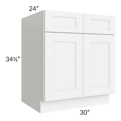 "Brilliant White Shaker 30"" Sink Base Cabinet"