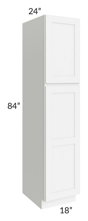Brilliant White Shaker 18x84x24 Wall Pantry Cabinet