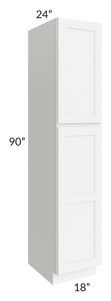 Brilliant White Shaker 18x90x24 Wall Pantry Cabinet